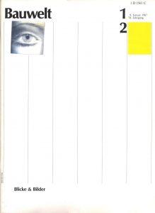 Cover Bauwelt 1987