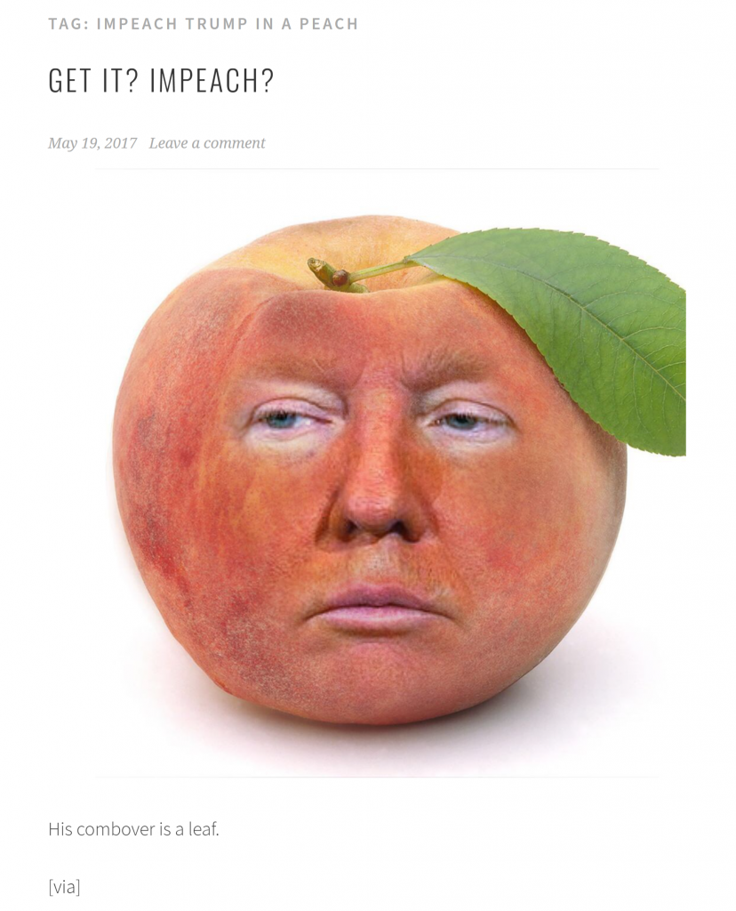 Trump in Peach first published